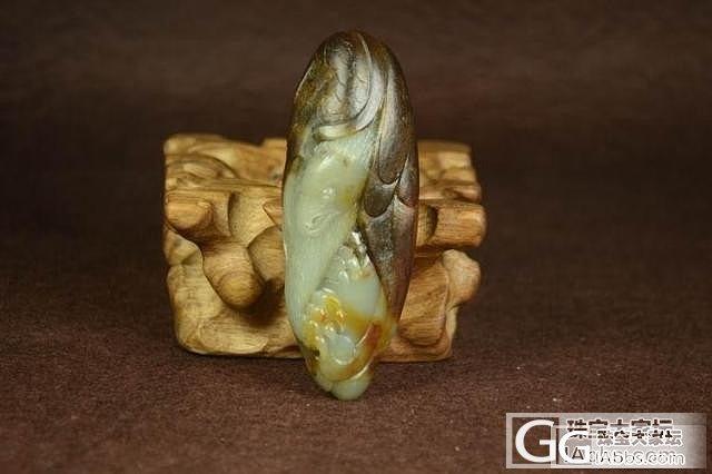 和田玉把件 真品保真 支持复检 大气枣红皮青白玉籽料大鹏展翅_传统玉石