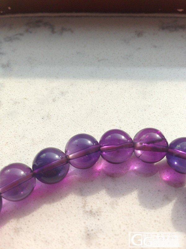 求鉴定,紫水晶手串。。。_水晶