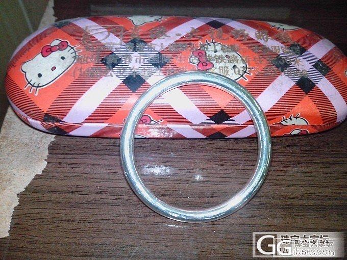 终于,终于,我有了一个甜甜圈啦~_手镯银