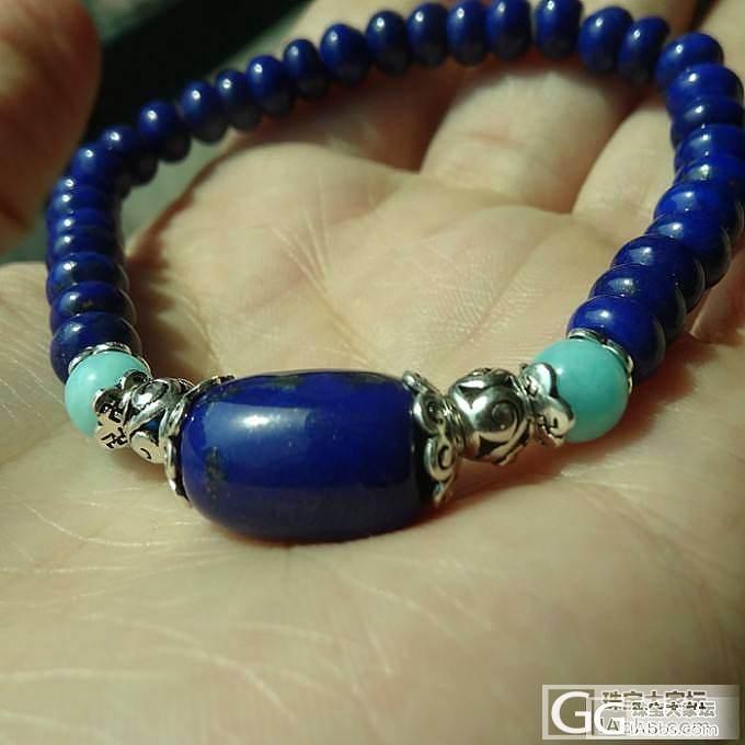 【青珹珠宝】套装控看过来,青金石算盘珠锁骨链、手链_宝石