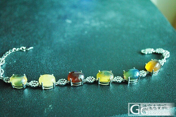 出两条琥珀蜜蜡多宝手链求秒_有机宝石