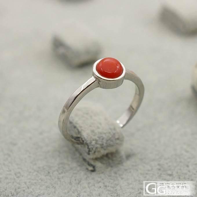 【证书已回~】5mm松石戒指~5mm珊瑚戒指~实物图_珠宝