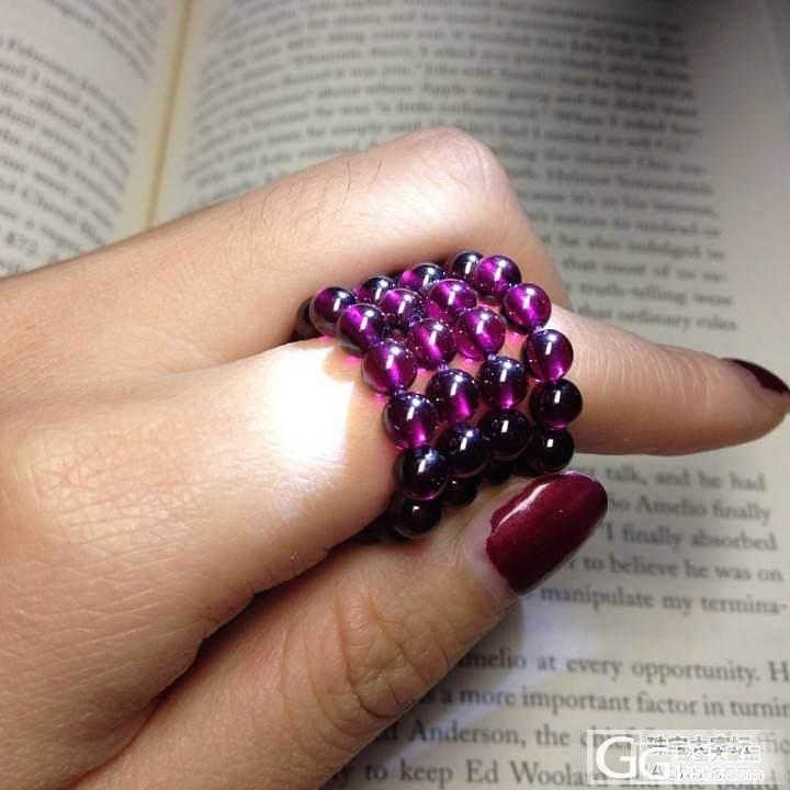 我自己穿的紫牙,爱啊这紫色,请大家欣赏_石榴石