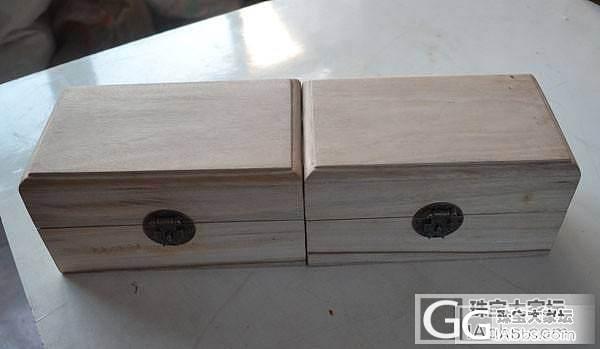 单品出售 香樟木翻盖首饰盒一对价格仅 320元做工榫卯 全独板 超值哦_文玩