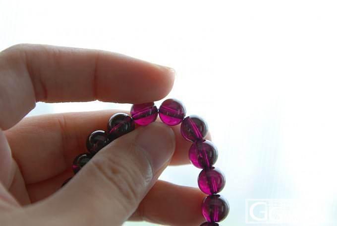 快9mm的收藏级的紫牙乌啊,美到不行!_珠串石榴石