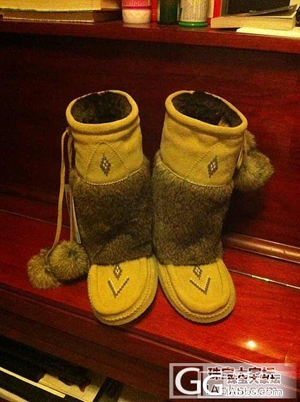 大刀一下700元转加拿大代购MUKLUKS印第安兔毛雪地靴全新_品质生活