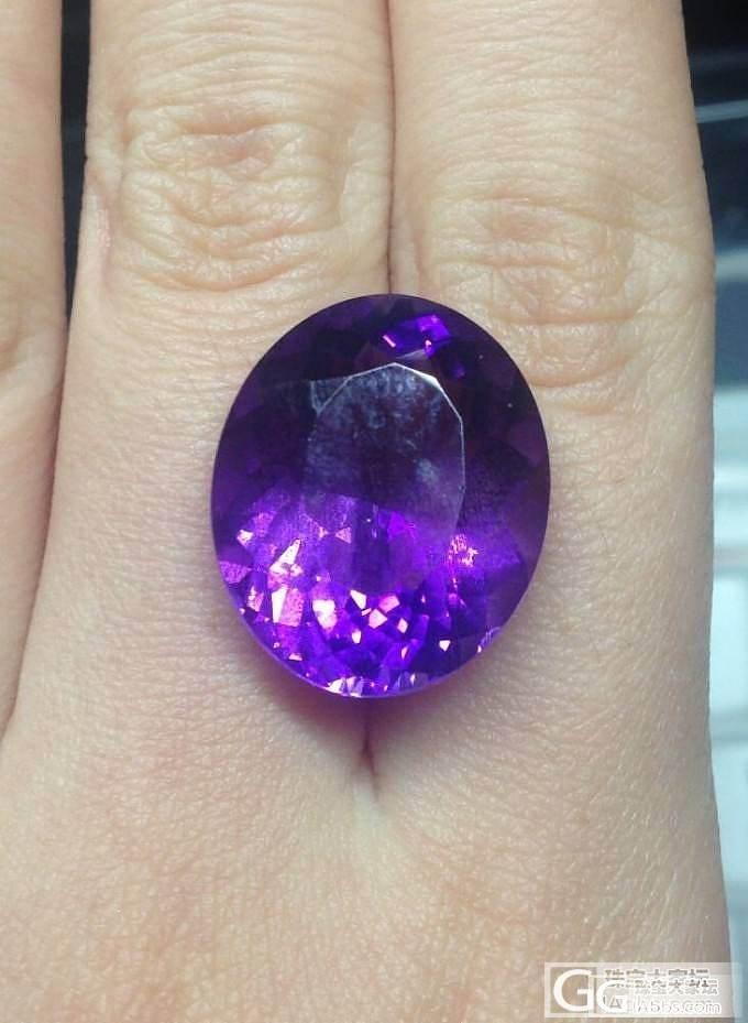 美丽的乌拉圭紫水_刻面宝石