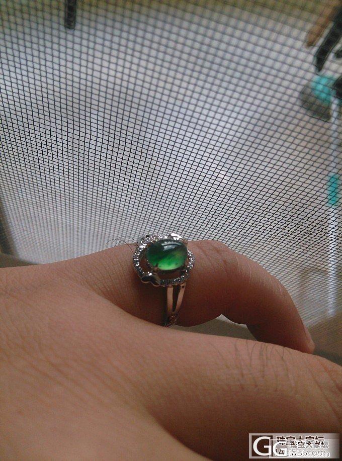 刚刚整的戒指,蛮稀饭的咯_翡翠