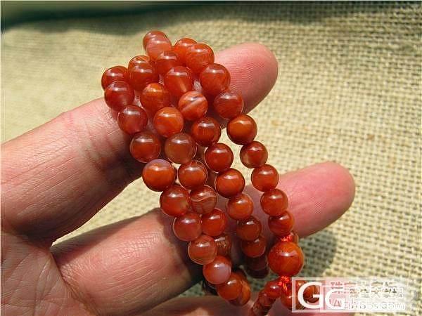【文雅清阁】南红 联合料 樱桃红 280元_传统玉石