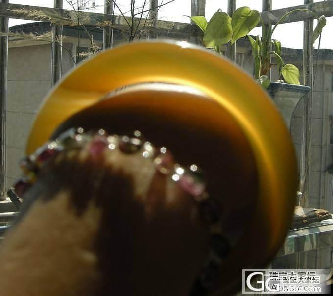 原色无烧无优化  蜜糖色玉髓手镯 小圈口的MM进来看看_宝石