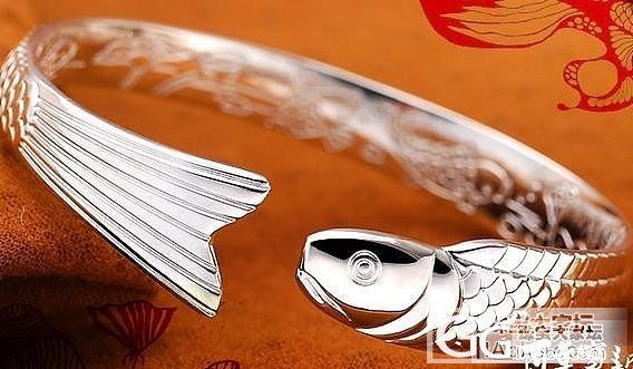 不知道淘宝上的百年宝诚的这款鱼手镯值..._手镯银