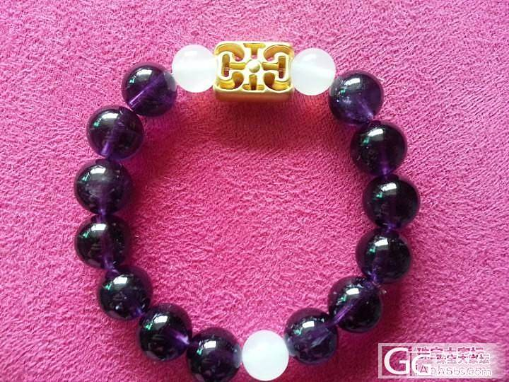 也来秀两个热款_珍珠紫水晶珠串金
