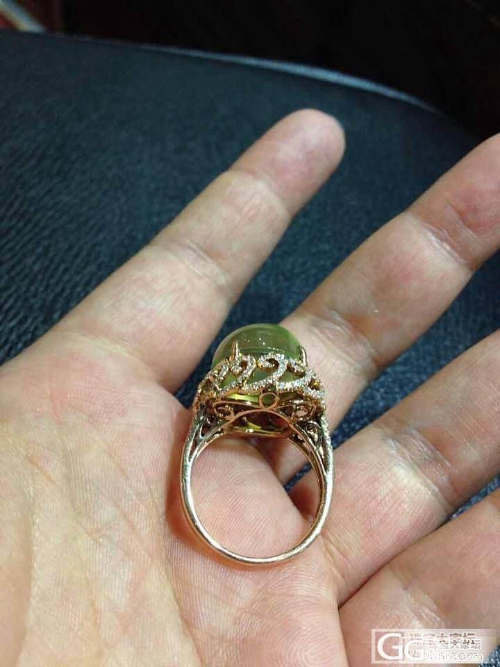 自家用葡萄石戒指,真金,真钻,真好看..._珠宝