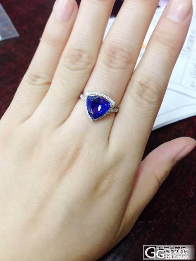 也来晒晒自己定制的坦桑戒指最爱三角款_珠宝