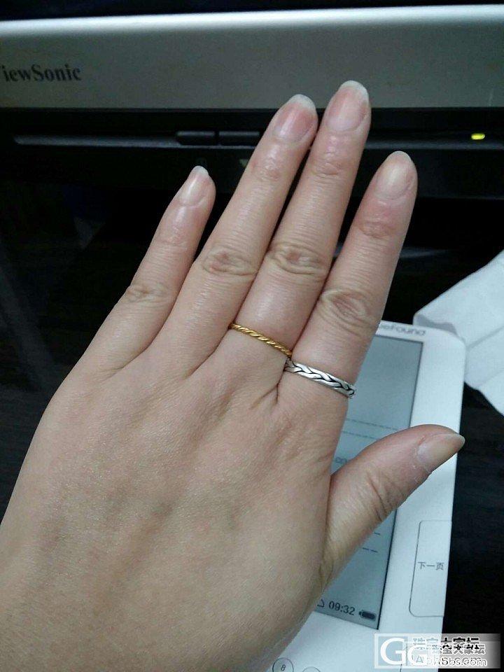 跟风的第一个银戒指。_戒指银
