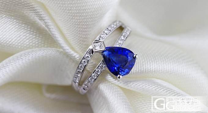 【忆宝】2ct水滴形蓝宝石戒指_宝石