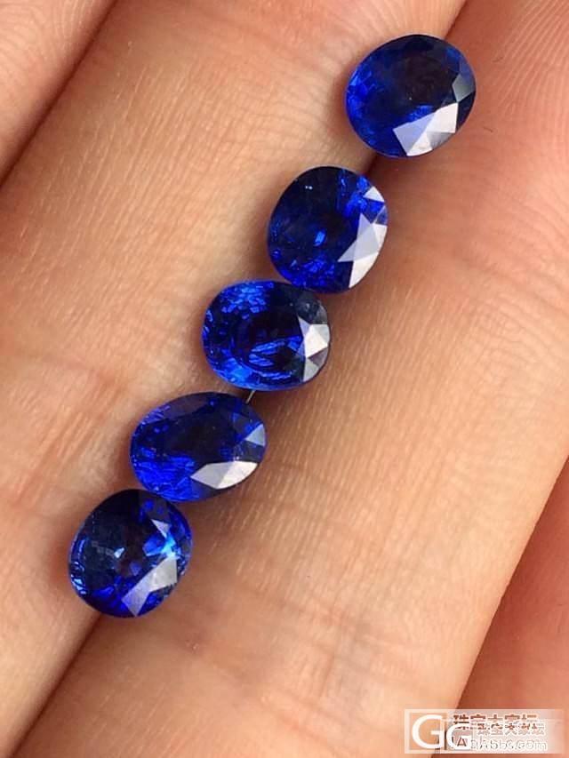 新入的一手一卡以上蓝宝石,很喜欢的哦..._宝石蓝宝石刻面宝石