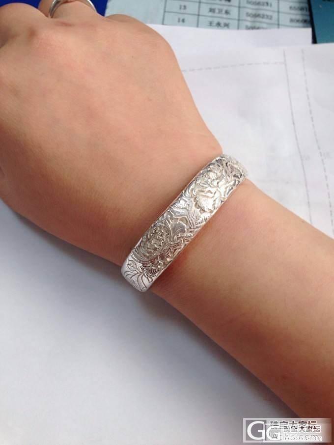 如果只留一款银镯子,你会留哪一款?1..._手镯银