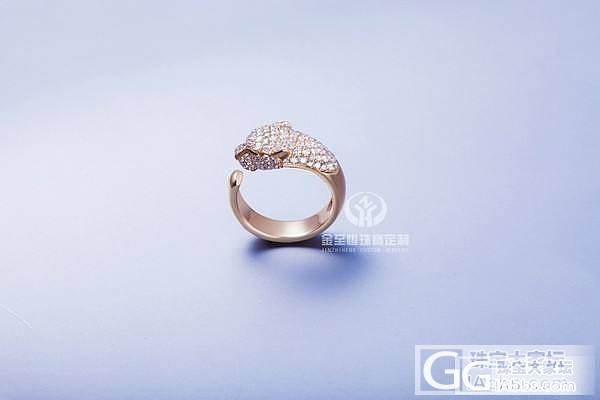 豹头系列18K玫瑰金猎豹戒指 精工制造_金挚恒珠宝镶嵌