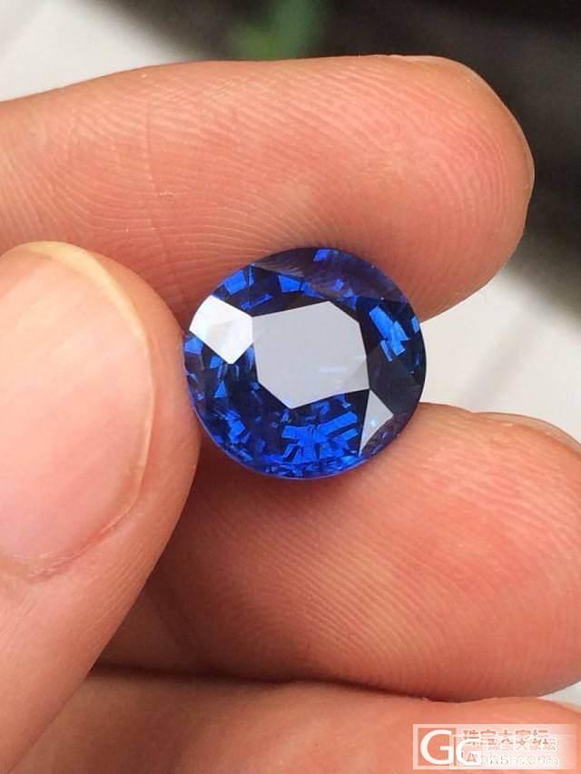 寻了很久才看到一个可以令人满意的蓝宝..._蓝宝石刻面宝石