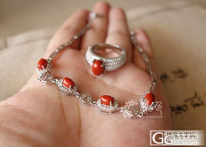 【颜●色】(售罄)纯色柿子红手链戒指套装 1200元