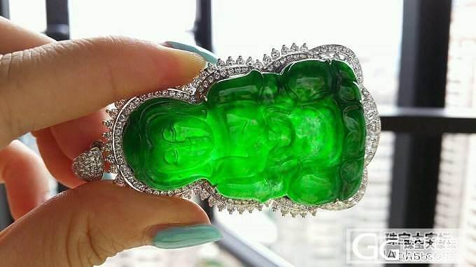 冰种放光正阳绿辣绿大观音。。。。_翡翠