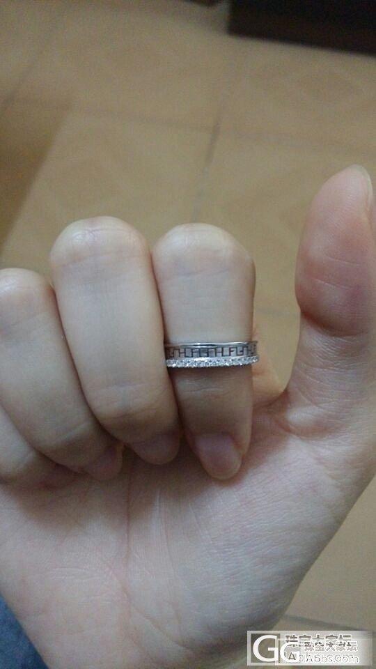 六福林峰代言的女戒,单据齐全,只试戴过,求出_钻石