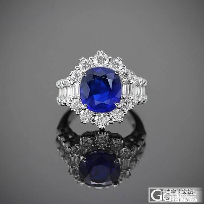 【忆宝】大气蓝宝石戒指一枚_宝石