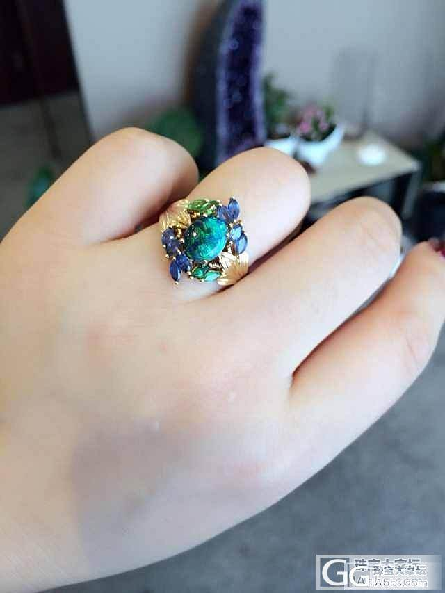 朋友黑欧珀的设计 请大家赞下_欧泊刻面宝石