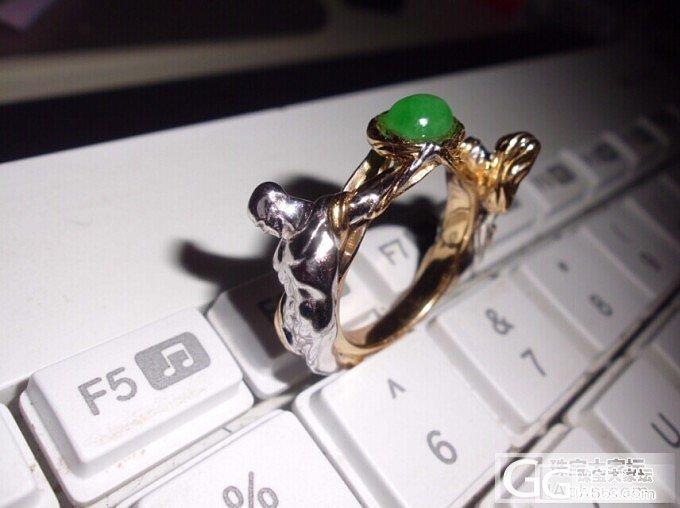 时隔半年我又回来啦,送上新设计的戒指_翡翠