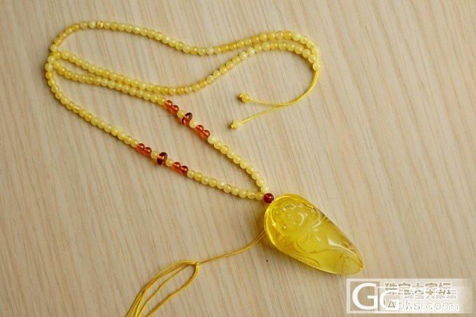 『已售』『琥珀』黄蜜色的佛公,雕刻饱满,线条流畅。_翡翠