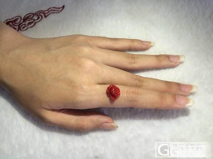 红珊瑚阿卡雕刻牡丹玫瑰花~_珠宝