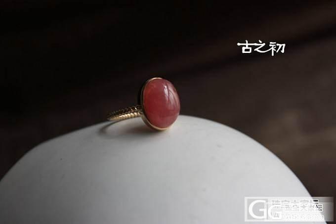 转一枚18K红纹戒指_宝石