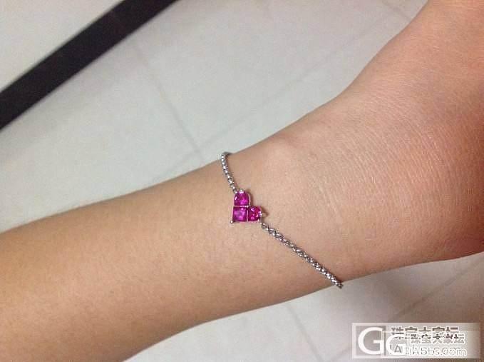 925镶人工宝石爱心手链_925银手链银
