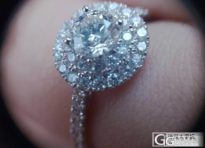 定制的钻戒,钻不是很大,但是还是蛮喜..._钻石