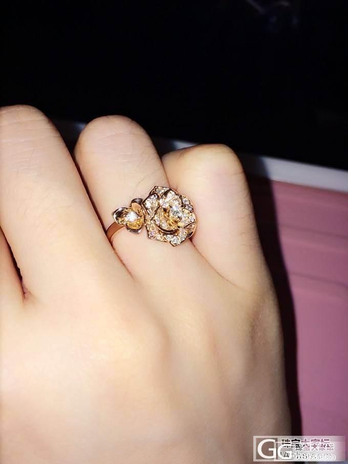 10月2号给自己的生日礼物-伯爵玫瑰戒指_钻石