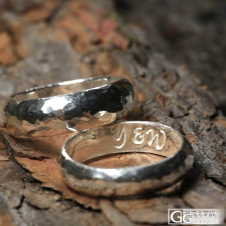 最近在家打了一些新玩意_手镯戒指银