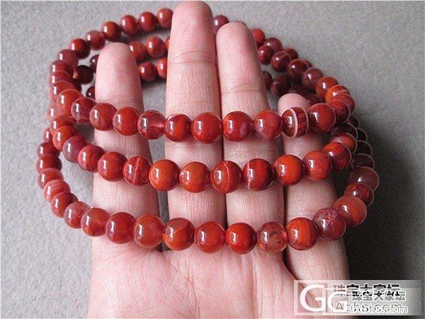 缠丝 手链 南红玛瑙 8mm  108珠子 不议价 360元_传统玉石