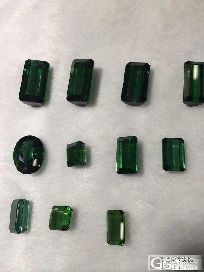 大家帮看看这几颗绿碧玺_宝石刻面宝石