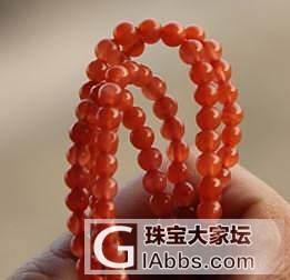 还是想转了,细细南红项链,带证书,_传统玉石