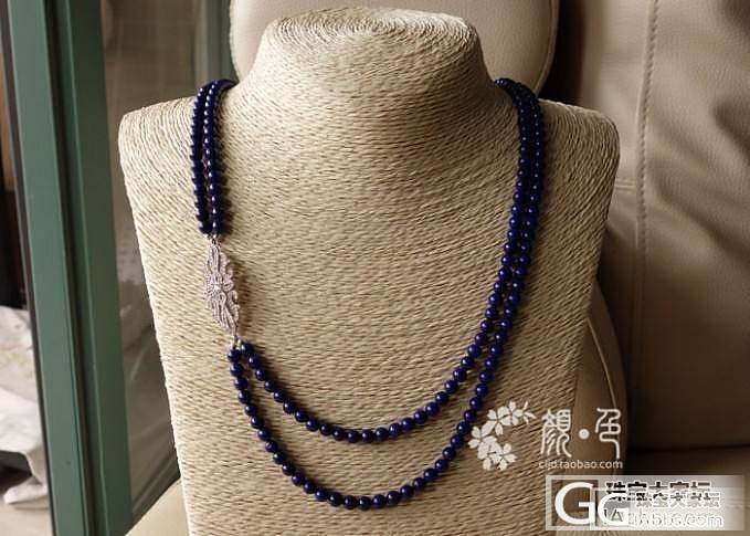 【颜●色】(售罄)原创奢华青金石双层项链 3700元