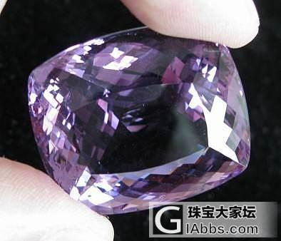 美丽的紫水晶_刻面宝石紫水晶