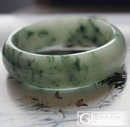 手镯飘花手镯内径59_翡翠