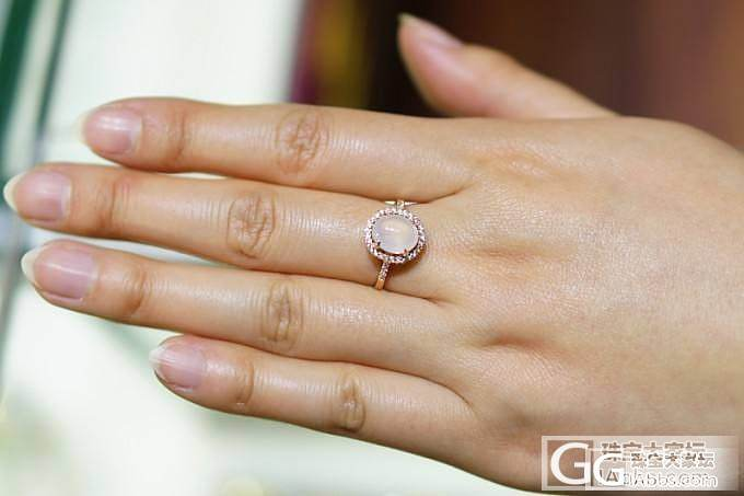 『已售』『翡翠』优雅戒指,翡翠戒面18K镶嵌_翡翠