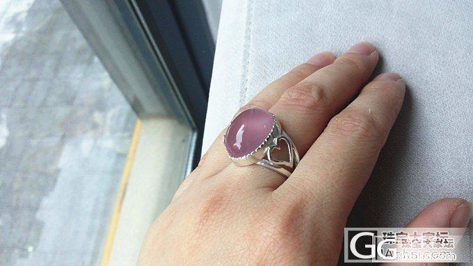 晒下我刚刚镶好的大莫粉戒指_宝石