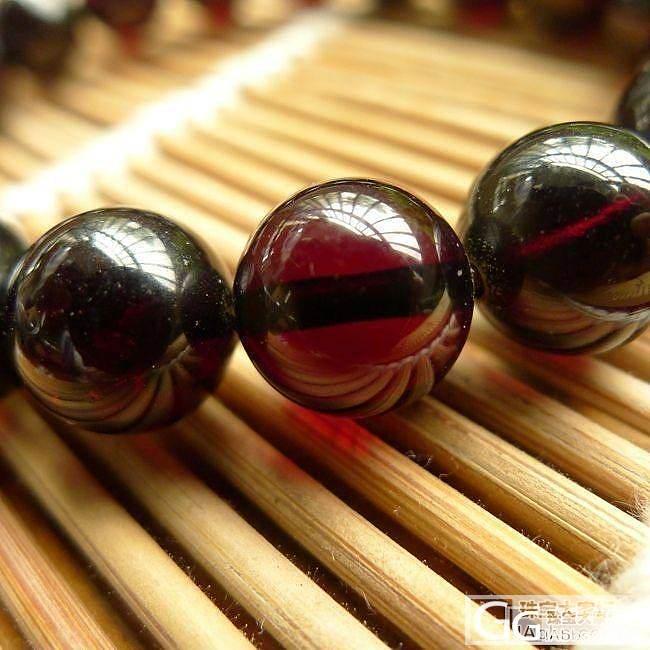 【琥珀屋】珍品 天然琥珀蜜蜡 血珀 手串/手珠 11mm 送证书_有机宝石