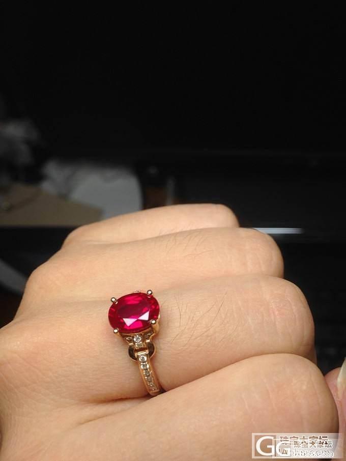 也来晒晒偶的小红_人造宝石戒指