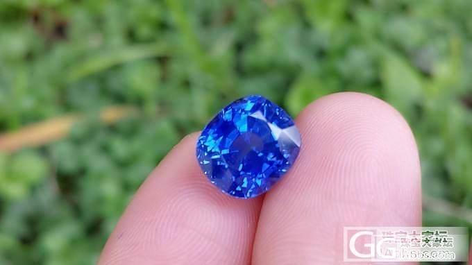 【上海皇家蓝彩宝】捡漏一颗4.8ct无烧矢车菊,颜色正,火彩好,干净_宝石