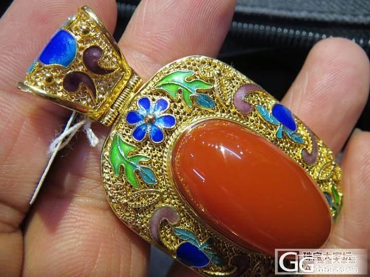 银鎏金掐丝珐琅彩精品南红吊坠-经典传..._传统玉石