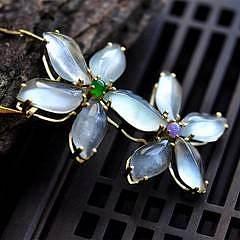 【妙洁】天然缅甸老坑翡翠A货玻璃花朵吊坠,冰阳绿紫罗兰蛋有证书_小凤眼菩提